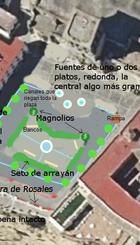 Boceto del jardín andalusí en plaza del cabildo